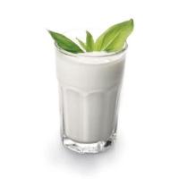 мацони в стакане с веточкой зелени, дело вкуса