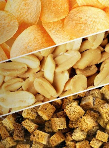 сухарики, орешки, чипсы с сырными вкусоароматическими добавками дело вкуса